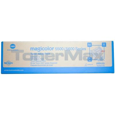 KONICA MINOLTA MC 5550 120V TONER VALUE KIT CMY